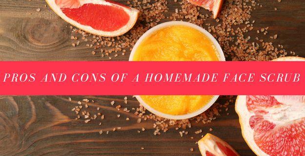 Pros And Cons Of A Homemade Face Scrub